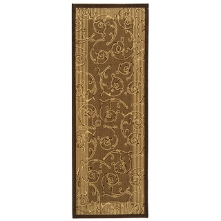 Safavieh Brown/ Natural Indoor Outdoor Rug (2'2 x 14')