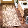 Safavieh Chocolate/ Natural Indoor Outdoor Rug (2'2 x 14')