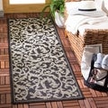 Safavieh Black/ Sand Indoor/ Outdoor Runner Rug (2'2 x 12')