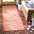 Safavieh Terracotta/ Natural Indoor Outdoor Rug (2'2 x 14')