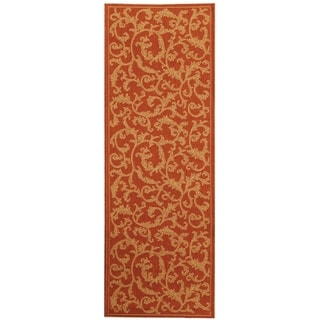Safavieh Terracotta/ Natural Indoor/ Outdoor Runner Rug (2'2 x 12')