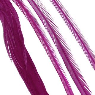 Donna Bella Solid Raspberry Feather Hair Extensions