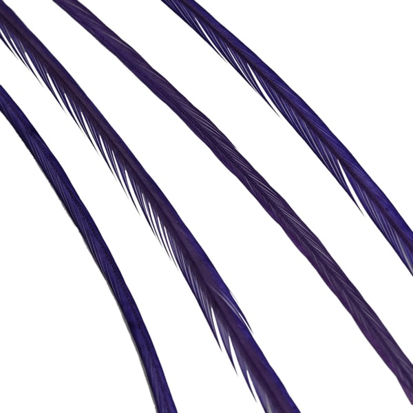 Donna Bella Solid Purple Feather Hair Extensions