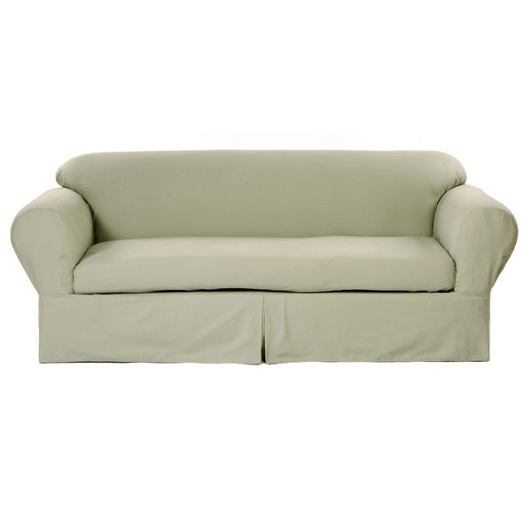 Classic Two piece Twill Sofa Slipcover