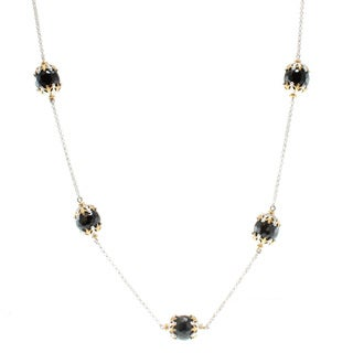 Michael Valitutti Two-Tone Black Onyx Necklace