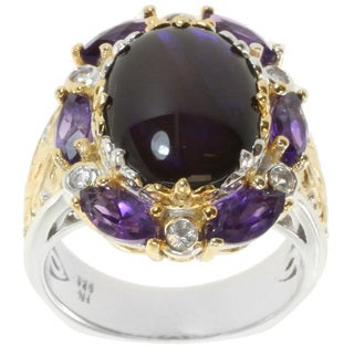 Michael Valitutti Two-Tone Purple Ammolite Ring