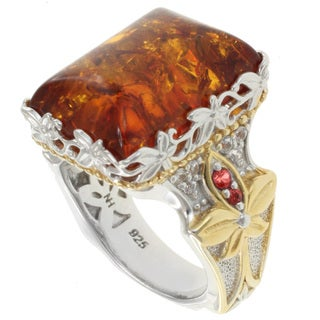 Michael Valitutti Two-Tone Amber Ring