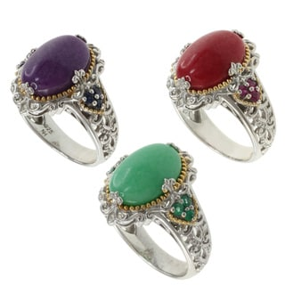 Michael Valitutti Two-Tone Jade Ring