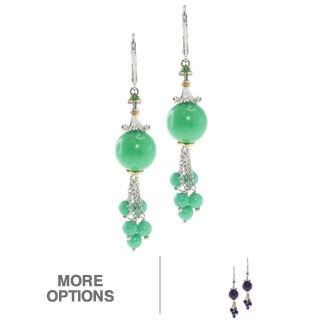 Michael Valitutti Two-Tone Jade Gemstone Earrings