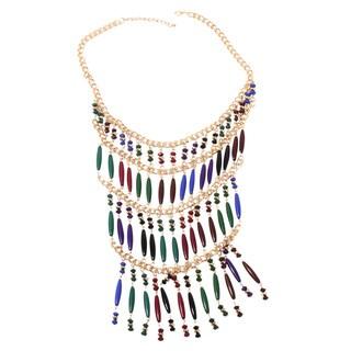 NEXTE Jewelry Multi Color Beaded Rani Bib Necklace
