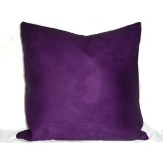 Ann Marie Lindsay 18 or 21 inch Micro Suede Decorative Pillow Cover