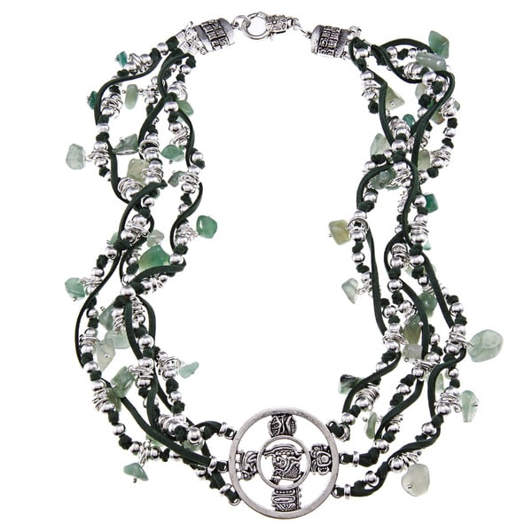 Chicchan Multi-strand Green Jade Necklace (Guatemala)