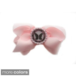 Boutique Bottle Cap Bow Clip