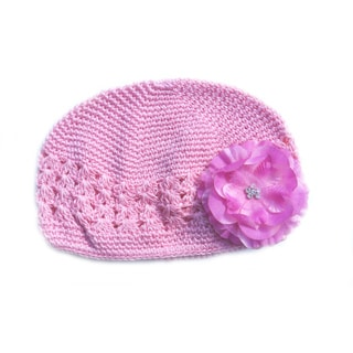 Boutique Light Pink Crochet Flower Hat