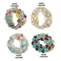 NEXTE Jewelry Wire and Crystal Beaded Bangle Bracelets