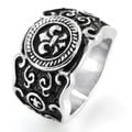 West Coast Jewelry Stainless Steel Fleur De Lis Cast Ring