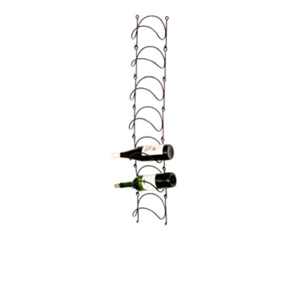 Phillipe Wall-mounted Metal Wine Rack