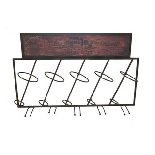 Renee Wall-mounted Metal Wine Rack