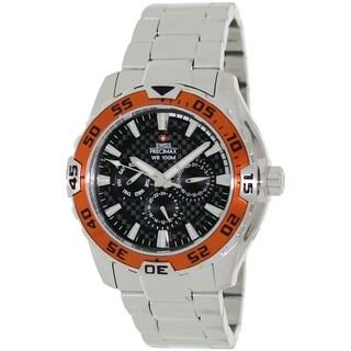 Swiss Precimax Men's Formula-7 Chronograph Watch with Black Dial
