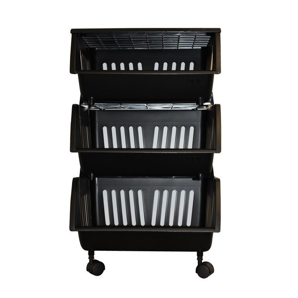 Homz Three Tier Mobile Storage Cart