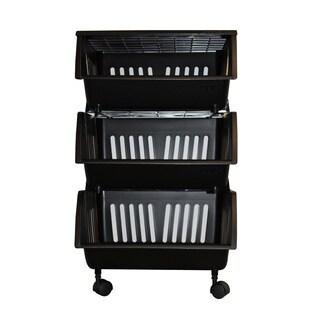 Homz Three Tier Mobile Storage Cart
