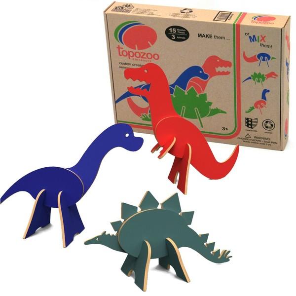 Topozoo 3D Dinosaur Puzzle Set