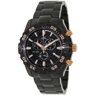 Swiss Precimax Men's Black Formula-7 Pro Chronograph Watch