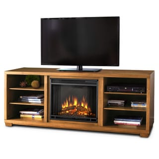 Real Flame Marco Dark Walnut Mantel Electric Fireplace