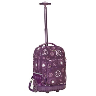 Rockland Purple Pearl 18-inch Rolling Laptop Backpack