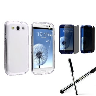 BasAcc Case/ Privacy LCD Protector/ Stylus for Samsung Galaxy S3/ SIII