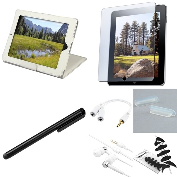 BasAcc Case/ Headset/ Stylus/ Protector/ Splitter for Apple iPad 1
