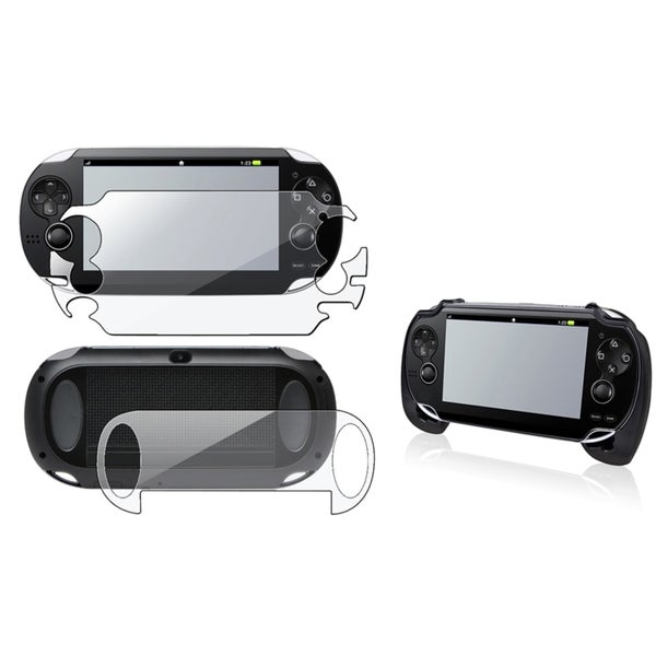 INSTEN Full Body LCD Protector/ Hand Grip for Sony Playstation Vita (As Is Item)