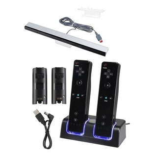 BasAcc Dual Charging Station/ Wired Sensor Bar for Nintendo Wii