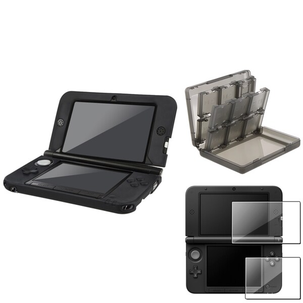 INSTEN Soft Silicone Case Cover/ Card Case Cover/ LCD Protector for Nintendo 3DS XL
