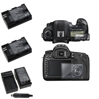 BasAcc LCD Protector/ Battery/ Charger for Canon EOS 5D Mark III