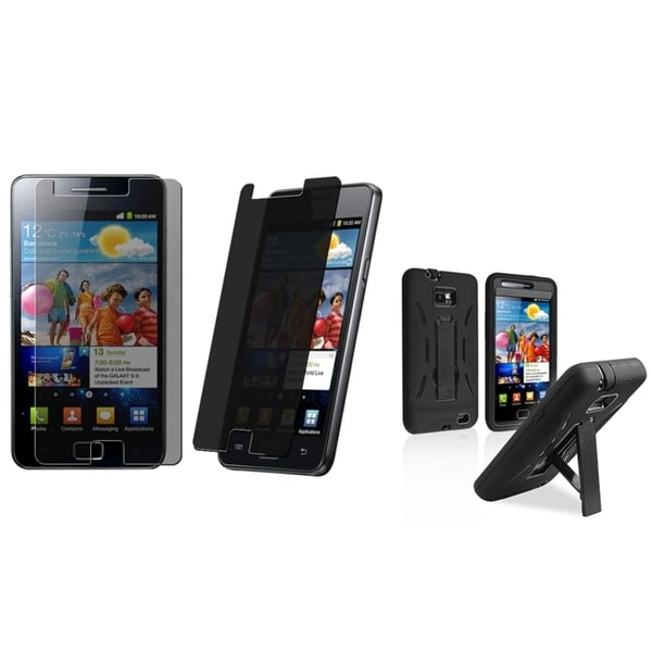 BasAcc Case/ Privacy LCD Protector for Samsung Galaxy S II/ S2 i9100