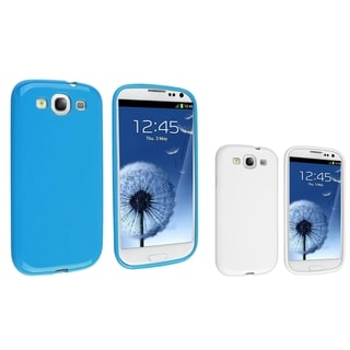 BasAcc Blue Jelly/ White Jelly TPU Case for Samsung Galaxy S3/ SIII 3