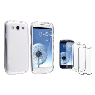 INSTEN Clear Crystal Phone Case Cover/ LCD Protector for Samsung Galaxy S3/ S III