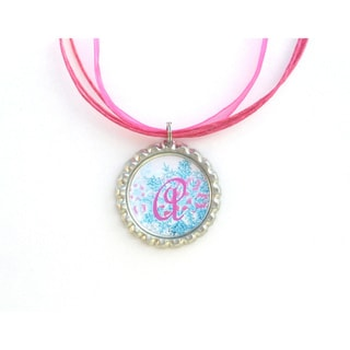 Monogram Bottle Cap Necklace