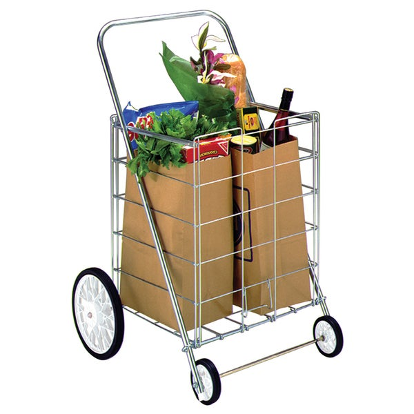 Homz 4-wheel Large Capacity Tote Cart
