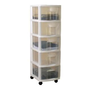 Homz Medium Five Drawer Cart