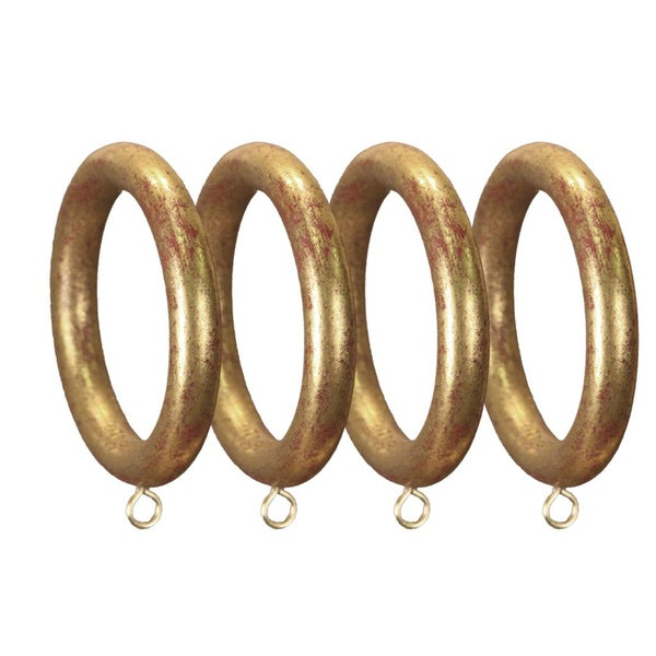 Menagerie 2-inch Gold Smooth Curtain Rings (Set of 4)
