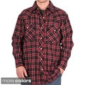 Farmall IH Men's Plaid Cotton Western Flannel Shirt