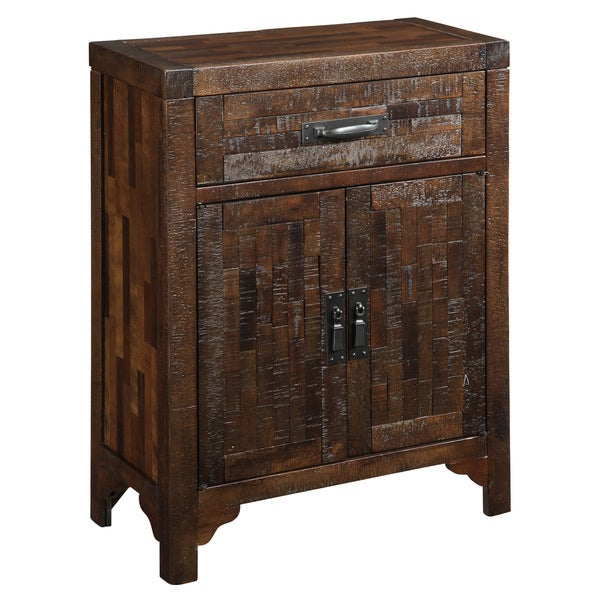Creek Classics Hewn Weathered Brown Accent Chest