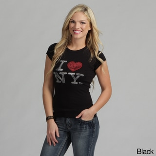 Women's Rhinestone 'I Love NY' T-shirt