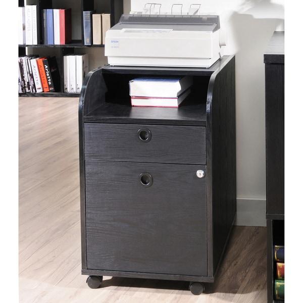Furniture of America Black Finished File Cabinet