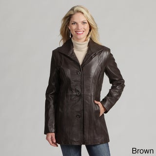 Izod Women's New Zealand Lamb Leather Coat