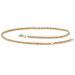 Toscana 10k Yellow Gold Tailored Rope Anklet