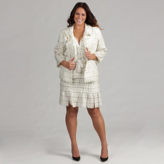 Issue New York 2-piece Ivory/ Black Knit Dress and Jacket