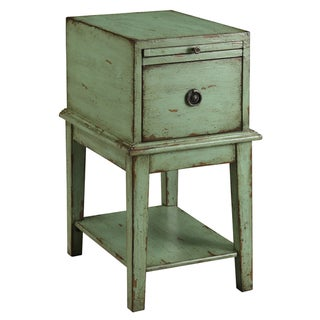 Creek Classics Distressed Green Chair Side Chest
